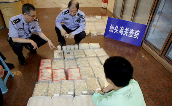 ¥51 billion smuggled goods seized by Guangdong police