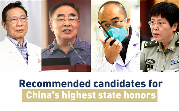 China's top respiratory experts recommended for highest state honor